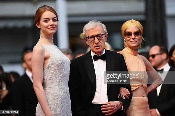 Emma StoneWoody Allen and Parker Posey attend the Premiere of 'Irrational Man' during the 68th annual Cannes Film Festival on May 15 2015 in Cannes...