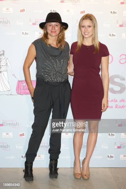 Emma Suarez and Manuela Velles attend Buscando a Eimish photocall at Paz Cinema on November 6 2012 in Madrid Spain
