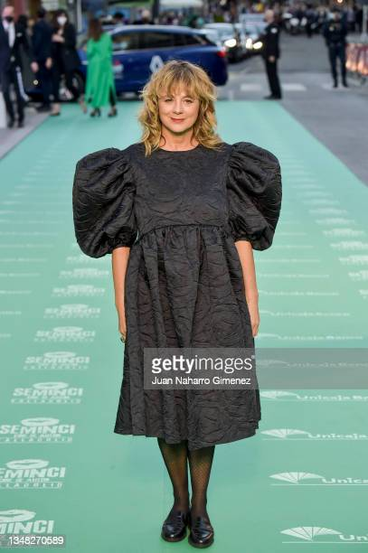 Emma Suarez attends the 'Libertad' premiere during the 66th SEMINCI-Valladolid International Film Festival on October 23, 2021 in Valladolid, Spain.