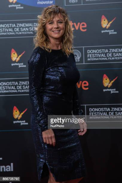 Emma Suarez attends the red carpet of the closure gala during 65th San Sebastian Film Festival at Kursaal on September 30 2017 in San Sebastian Spain