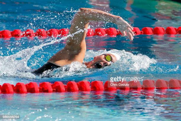 Emma Sundstedt competes in the 1500 meter freestyle on day four of the TYR Pro Swim Series at Mesa at Skyline Aquatics Center on April 15 2018 in...