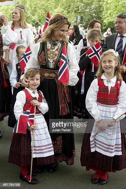 Emma Tallulah Behn and Princess Martha Louise of NorwayLeah Isadora Behn attend celebrations for Norway National day in Southwark Park on May 17 2014...