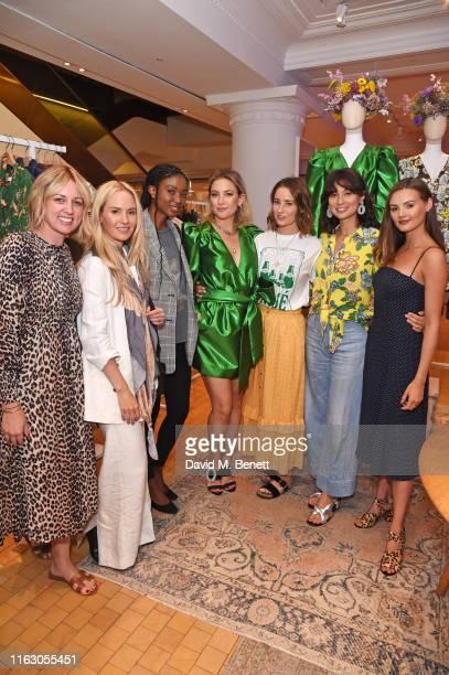 Emma Thatcher Tess Montgomery Natasha Ndlovu Kate Hudson Kelly Eastwood Jasmine Hemsley and Niomi Smart visit Selfridges to launch Happy x Nature in...