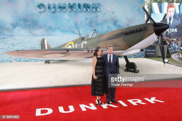 Emma Thomas and Christopher Nolan arrive at the 'Dunkirk' World Premiere at Odeon Leicester Square on July 13 2017 in London England
