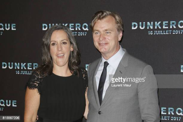 Emma Thomas and Christopher Nolan attend Dunkirk Premiere at Ocine on July 16 2017 in Dunkerque France