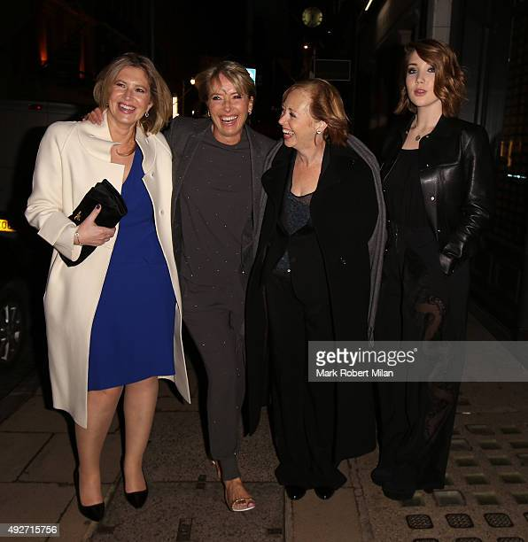 Emma Thompson and daughter Gaia Romilly Wise attending as Boodles celebrates the opening of their new Bond Street flagship store on October 14 2015...