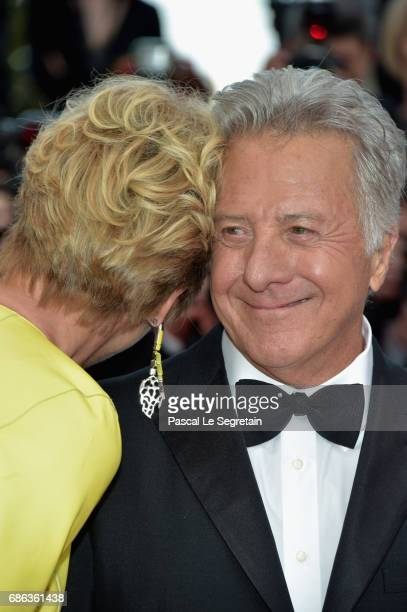 Emma Thompson and Dustin Hoffman attend the 'The Meyerowitz Stories' screening during the 70th annual Cannes Film Festival at Palais des Festivals on...