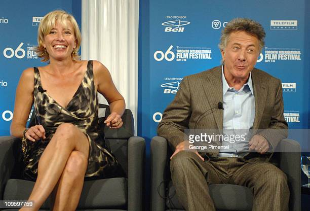 """Emma Thompson and Dustin Hoffman during 31st Annual Toronto International Film Festival - """"Stranger Than Fiction"""" Press Conference at Sutton Place..."""