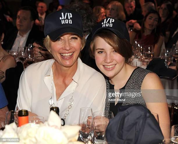 Emma Thompson and Gaia Wise attend the 3rd annual Sean Penn Friends HELP HAITI HOME Gala benefiting J/P HRO presented by Giorgio Armani at Montage...