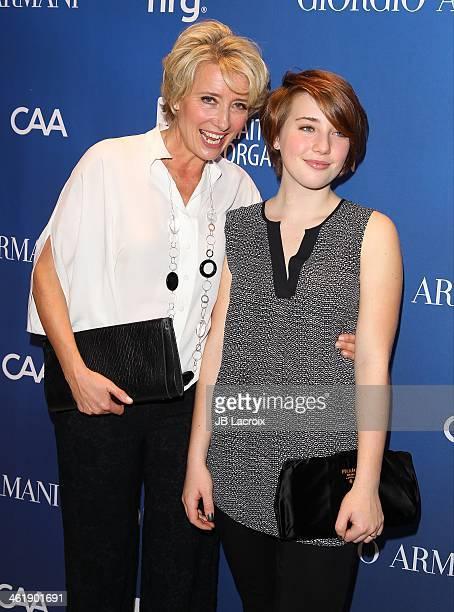 Emma Thompson and Gaia Wise attend the Sean Penn 3rd Annual Help Haiti Home Gala Benefiting J/P HRO Presented By Giorgio Armani at Montage Beverly...