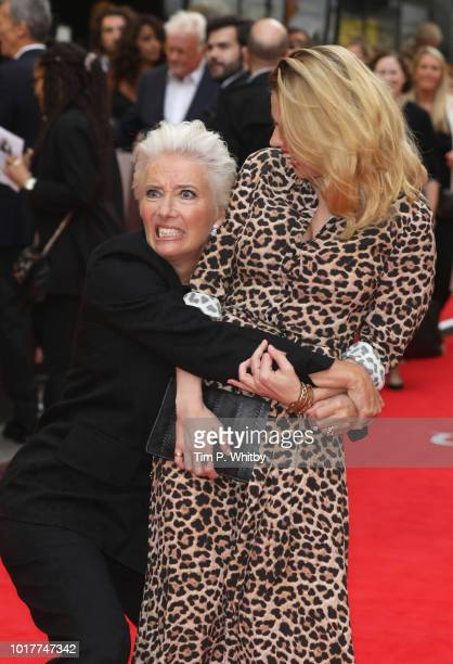 Emma Thompson and Hayley Atwell attend 'The Children Act' UK Premiere at The Curzon Mayfair on August 16, 2018 in London, England.