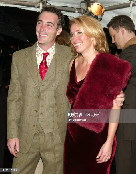 Emma Thompson and husband Greg Wise during 'Love Actually' New York Premiere at Ziegfeld Theatre in New York City New York United States
