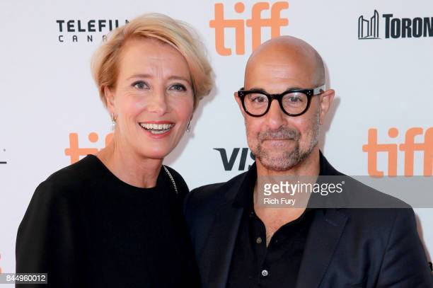 Emma Thompson and Stanley Tucci attends 'The Children Act' premiere during the 2017 Toronto International Film Festival at The Elgin on September 9...
