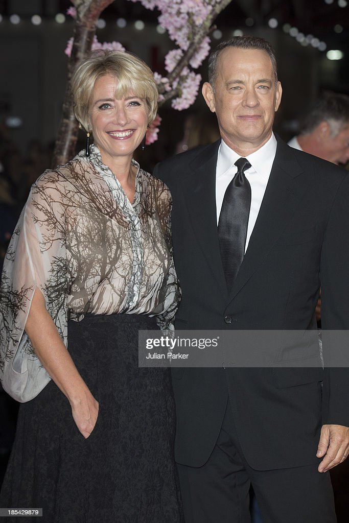 Emma Thompson and Tom Hanks attend the Closing Night Gala European Premiere of 'Saving Mr Banks' during the 57th BFI London Film Festival at Odeon Leicester Square on October 20, 2013 in London, England.