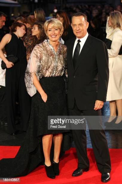 Emma Thompson and Tom Hanks attend the Closing Night Gala European Premiere of 'Saving Mr Banks' during the 57th BFI London Film Festival at Odeon...