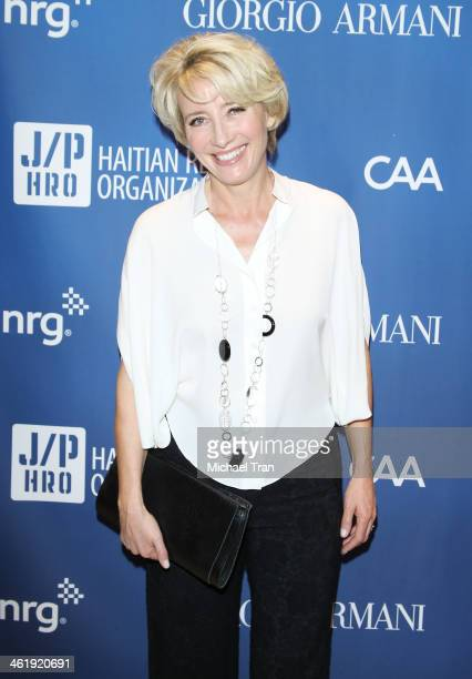 Emma Thompson arrives at the 3rd Annual Sean Penn Friends Help Haiti Home Gala benefiting J/P HRO presented By Giorgio Armani held at Montage Beverly...