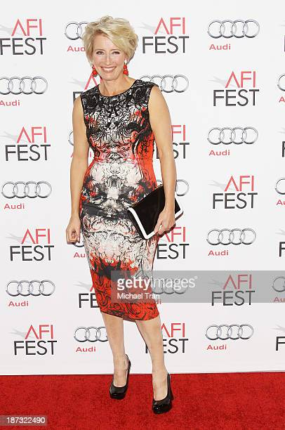 Emma Thompson arrives at the AFI FEST 2013 Saving Mr Banks opening night premiere held at TCL Chinese Theatre on November 7 2013 in Hollywood...