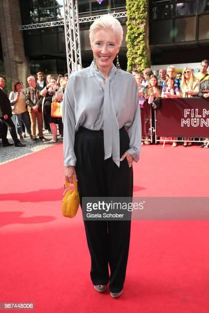 Emma Thompson arrives at the Cine Merit Award Gala during the Munich Film Festival 2018 at Gasteig on June 29 2018 in Munich Germany