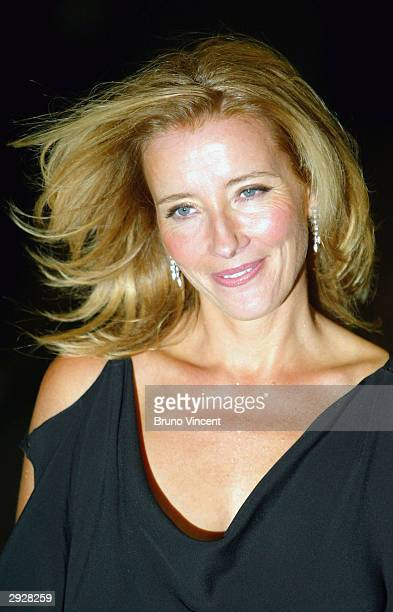 Emma Thompson arrives at the 'Sony Ericsson Empire Film Awards' at The Dorchester Hotel on February 4 2004 in London