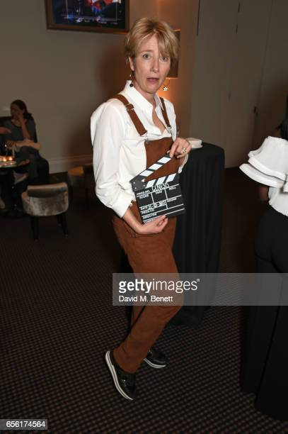 Emma Thompson attends a cocktail reception hosted by 20th Century Fox to celebrate The Ghetto Film School at BAFTA Piccadilly on March 21 2017 in...