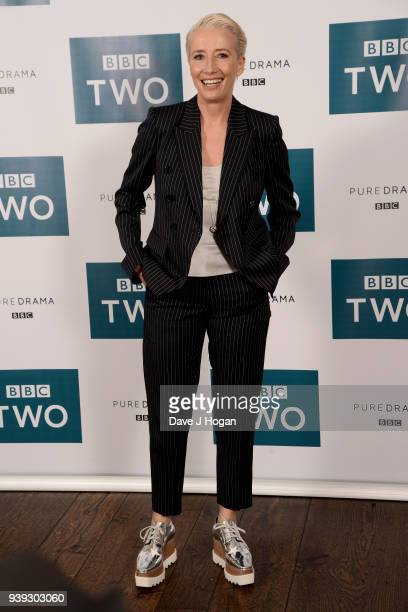 Emma Thompson attends a screening of King Lear at Soho Hotel on March 28 2018 in London England