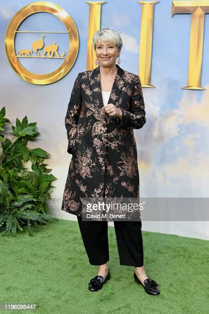 """Emma Thompson attends a special screening of """"Dolittle"""" at Cineworld Leicester Square on January 25, 2020 in London, England."""