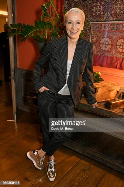 Emma Thompson attends a special screening of new BBC Two drama 'King Lear' at The Soho Hotel on March 28 2018 in London England