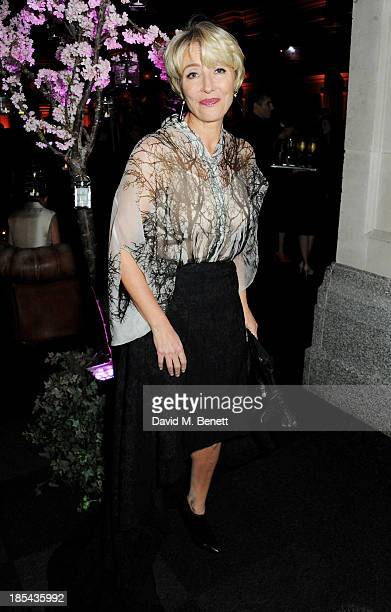 Emma Thompson attends an after party for the Closing Night Gala European Premiere of 'Saving Mr Banks' during the 57th BFI London Film Festival at...