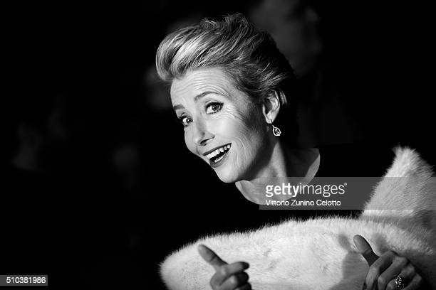 Emma Thompson attends the 'Alone in Berlin' premiere during the 66th Berlinale International Film Festival Berlin at Berlinale Palace on February 15...