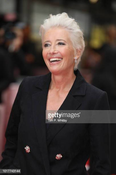 Emma Thompson attends 'The Children Act' UK Premiere at The Curzon Mayfair on August 16 2018 in London England