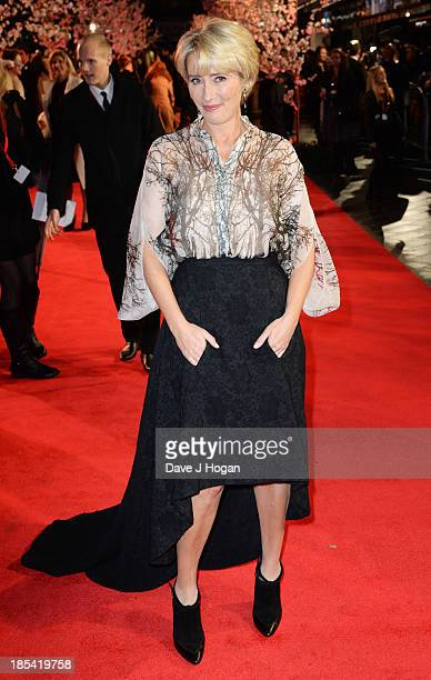 Emma Thompson attends the Closing Night Gala European Premiere of 'Saving Mr Banks' on the closing night gala during the 57th BFI London Film...