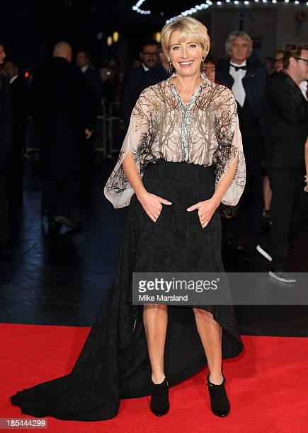 "Emma Thompson attends the Closing Night Gala European Premiere of ""Saving Mr Banks"" during the 57th BFI London Film Festival at Odeon Leicester..."