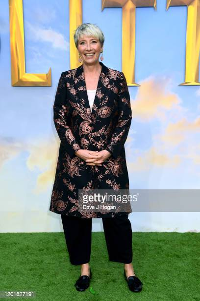 """Emma Thompson attends the """"Dolittle"""" special screening at Cineworld Leicester Square on January 25, 2020 in London, England."""