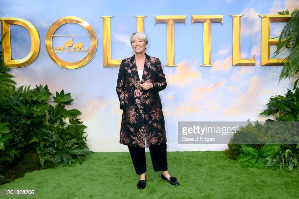 "Emma Thompson attends the ""Dolittle"" special screening at Cineworld Leicester Square on January 25, 2020 in London, England."