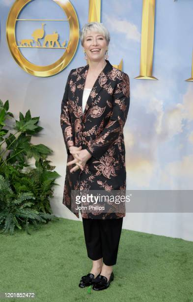 Emma Thompson attends the Dolittle special screening at Cineworld Leicester Square on January 25 2020 in London England
