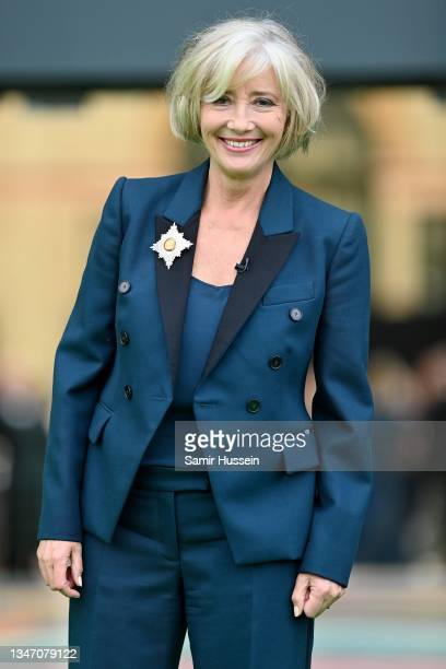 Emma Thompson attends the Earthshot Prize 2021 at Alexandra Palace on October 17, 2021 in London, England.
