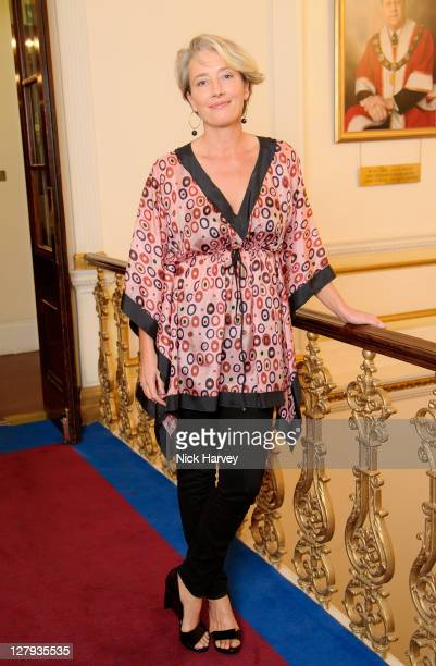 Emma Thompson attends the fundraising event to benefit The Helen Bamber Foundation at Bonhams on October 3 2011 in London England