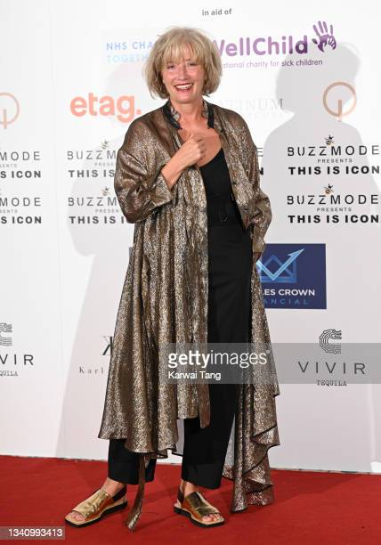 Emma Thompson attends The Icon Ball 2021 during London Fashion Week September 2021 at The Landmark Hotel on September 17, 2021 in London, England.