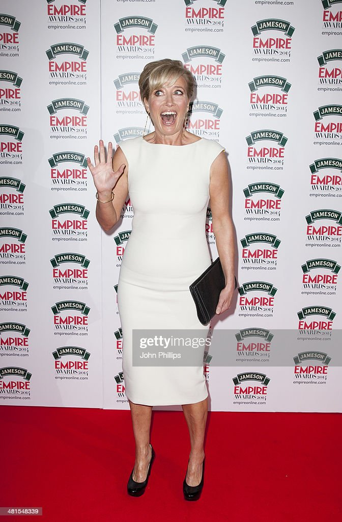 Emma Thompson attends the Jameson Empire Film Awards at The Grosvenor House Hotel on March 30, 2014 in London, England.
