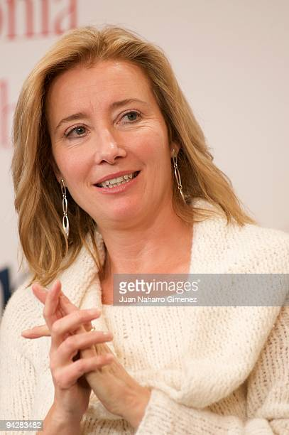 Emma Thompson attends 'The Journey' exhibition in The Retiro park on December 11 2009 in Madrid Spain