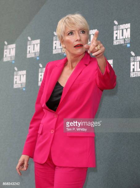 Emma Thompson attends the Laugh Gala and UK Premiere of The Meyerowitz Stories during the 61st BFI London Film Festival on October 6 2017 in London...