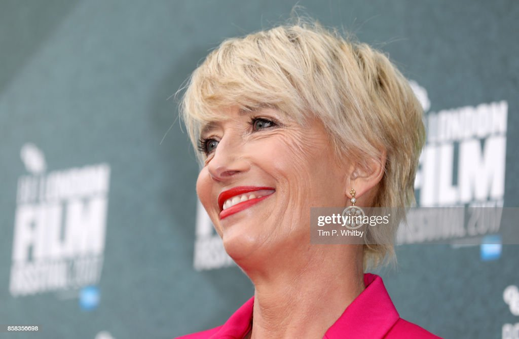 Emma Thompson attends the Laugh Gala and UK Premiere of 'The Meyerowitz Stories' during the 61st BFI London Film Festival on October 6, 2017 in London, England.