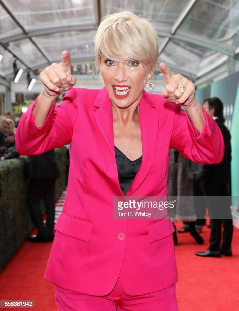 Emma Thompson attends the Laugh Gala and UK Premiere of 'The Meyerowitz Stories' during the 61st BFI London Film Festival on October 6 2017 in London...