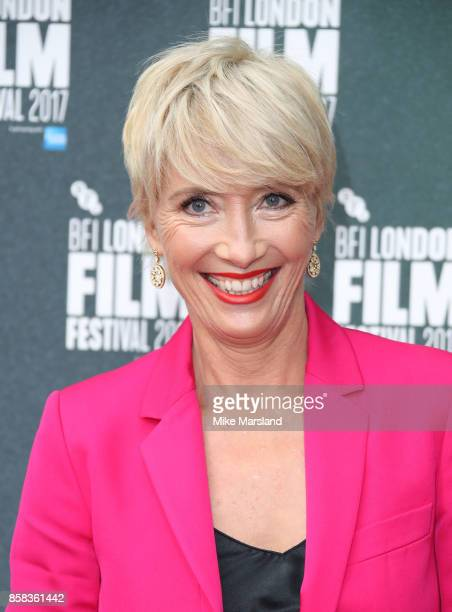 Emma Thompson attends the Laugh Gala UK Premiere of 'The Meyerowitz Stories' during the 61st BFI London Film Festival on October 6 2017 in London...