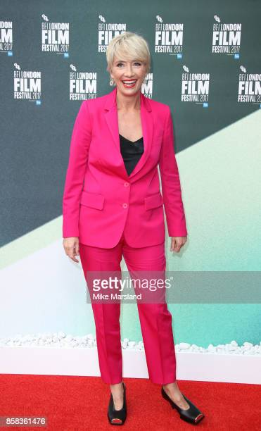 Emma Thompson attends the Laugh Gala UK Premiere of The Meyerowitz Stories during the 61st BFI London Film Festival on October 6 2017 in London...