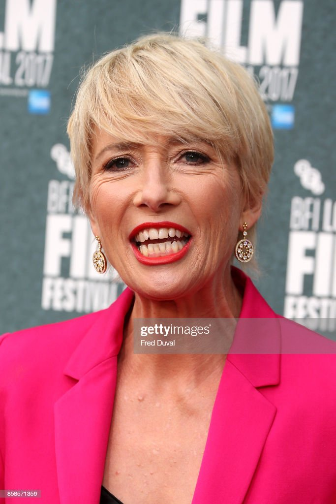 Emma Thompson attends 'The Meyerowitz Stories' UK Premiere during the 61st BFI London Film Festival at Embankment Gardens Cinema on October 6, 2017 in London, England.