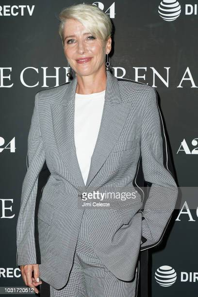 Emma Thompson attends the New York premiere of The Children Act at Walter Reade Theater on September 11 2018 in New York City