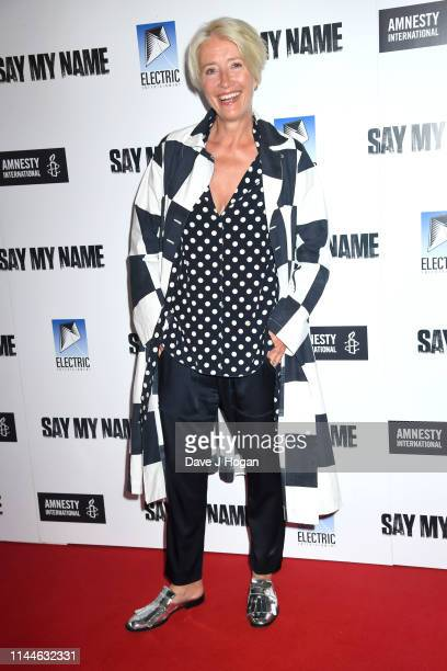 Emma Thompson attends the Say My Name Gala Screening at Odeon Luxe Leicester Square on April 23 2019 in London England
