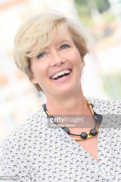 Emma Thompson attends the 'The Meyerowitz Stories' Photocall during the 70th annual Cannes Film Festival at Palais des Festivals on May 21 2017 in...