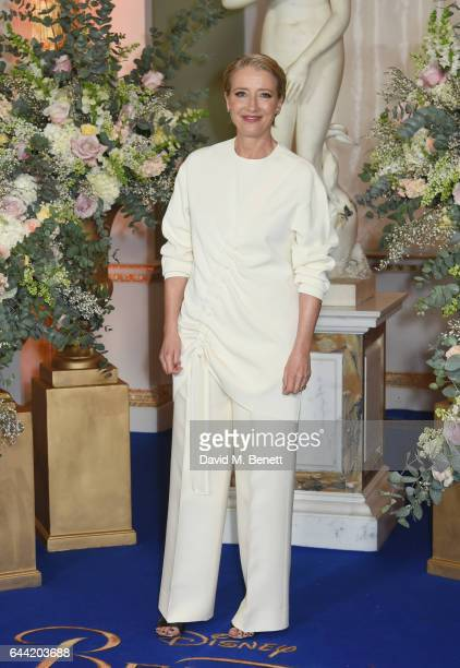 Emma Thompson attends the UK launch event for 'Beauty And The Beast' at Spencer House on February 23 2017 in London England
